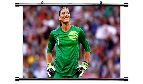 Donovan Us Soccer - Hope Solo US Women's Soccer Star Wall Scroll Poster (32x21) Inches