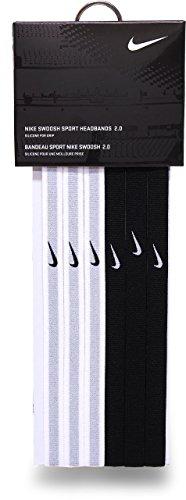 Nike Swoosh Sport Headbands 2.0 (Black/White/Grey) by Nike (Image #1)
