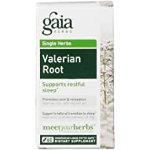 Gaia Herbs Valerian Root Vegan Liquid Capsules, 60 Count - Relaxing Natural Sleep Aid Supplement to Calm the Mind and Promote Deep Restful Sleep, No Melatonin, Non-Habit Forming Organic Formula