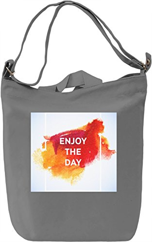 Enjoy The Day Full Print Borsa Giornaliera Canvas Canvas Day Bag| 100% Premium Cotton Canvas| DTG Printing|
