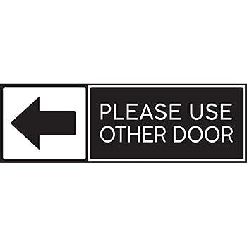 amazon com please use other door right arrow business store door