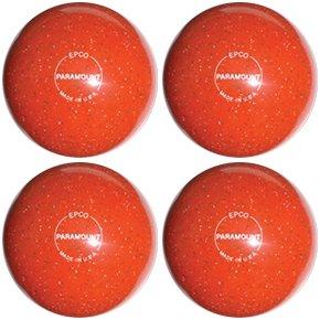 EPCO-Duckpin-Bowling-Ball-Speckled-Houseball-Orange-4-Balls