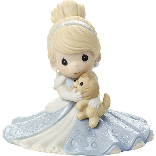 Precious Moments, Disney Showcase Cinderella Figurine, A Friend Fit For A Princess, Porcelain, 171095