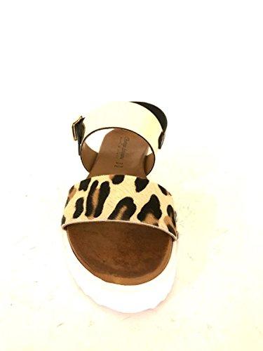 7b10b1ff ZETA SHOES Sandalias de vestir de Piel para mujer dorado ...