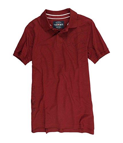 Ecko Embroidered Polo Shirt - Ecko Unltd. Mens Armhole Embroidered Rhino Rugby Polo Shirt Red M