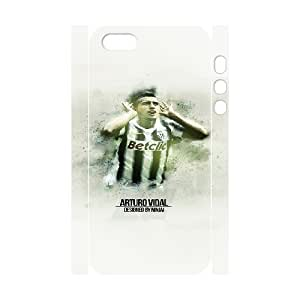 iphone 5 5S 3D Custom Cell Phone Case FC Juventus Players Arturo Vidal Case Cover YWFF36615
