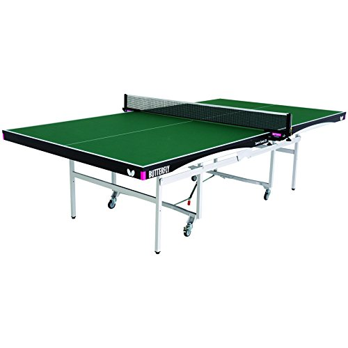 Cheap Butterfly Space Saver 22 Rollaway Table Tennis Table | 5 Year Warranty | 22mm Top for Professional Table Tennis | Strong Steel Frame | USATT Approved Folding Ping Pong Table