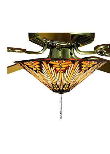 Meyda Tiffany 73124 Nuevo Mission Fan Light Fixture, 17