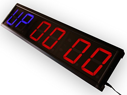 EU Programmable GYM interval countdown countup and stopwatch 4'' 6 digits by EU DISPLAY
