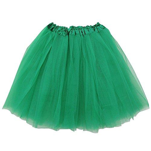 Extra Plus Size Adult Tutu XXL - Princess Costume Ballet Warrior Dash Running Skirt (Green) ()