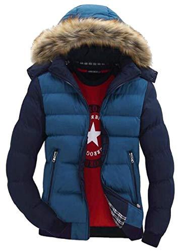 Quilted TTYLLMAO Coat 5 Hoodie Long Sleeve Faux Block Jacket Mens Color Fur BgwqB8vp
