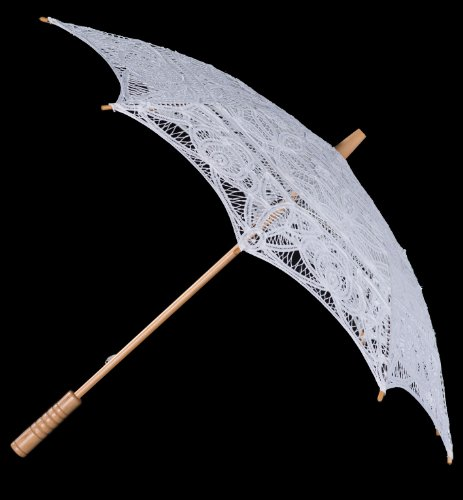 The 1 For U Women's Victorian Lace Parasol Ivory/Cream by The 1 for U (Image #4)