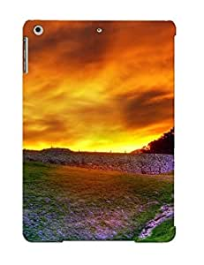 YlKXCbi2639vldeE Improviselike Awesome Case Cover Compatible With Ipad Air - Sunset Over The Hill