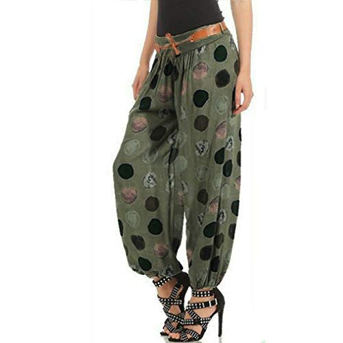 POQOQ Pants Leggings Women Ease in to Comfort Modern Stretch Skinny w/Tummy Control Palazzo Wide Leg Lounge XS Army Green -