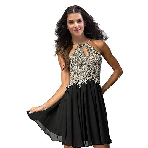 Beilite Halter Chiffon Evening Dress Crystals Formal Dress