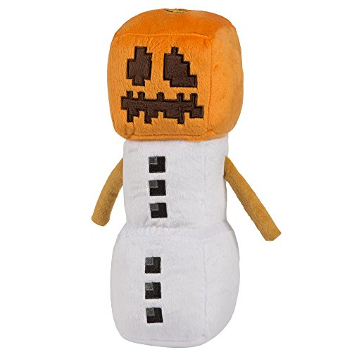 JINX Minecraft Snow Golem Plush Stuffed Toy, White/Orange, 11.5