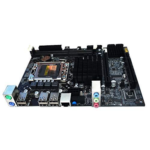 Bomcomi X58 Motherboard 1366 Pin Desktop Motherboard Supports ECC Memory LGA 1366 DDR3 S-ATA II Maximum Memory 16GB