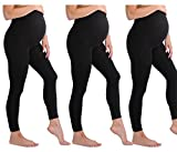 Touch Me Black and Grey Maternity Leggings Soft