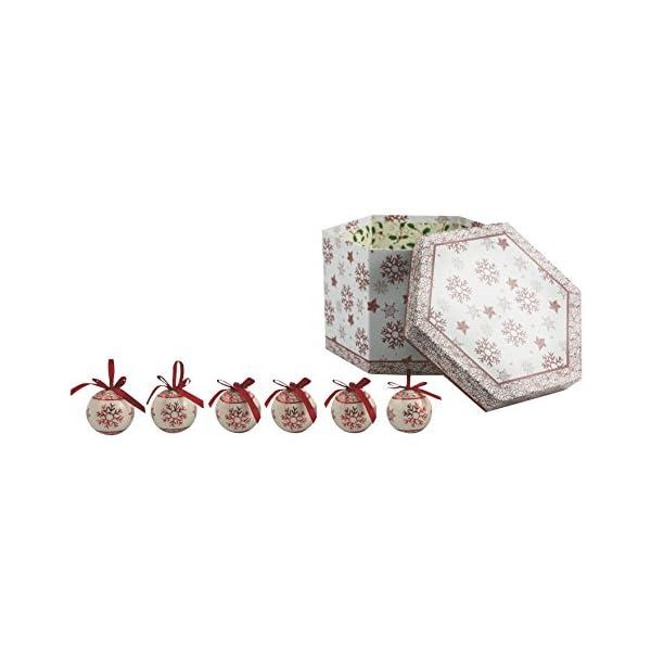Galileo Casa Noel Set 14 Palle Decorazioni di Natale, Bianco/Rosso, 7x7x7 cm 1 spesavip