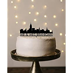 Avery Carey Wedding Cake Topper Acrylic Personalized City Skyline cake topper wedding cake topper personalized cake topper custom cake topper