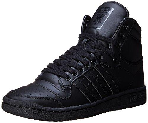 Adidas Top Ten Hi Black Black Mens Trainers 40 2/3 EU