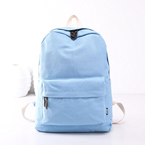 Backpack Canvas Style Blue Preppy Backpack Bookbags Shoulder Canvas Japanese Women Bag School Bags Travel Kawaii Korean Girls School And 5FUw7qxq0