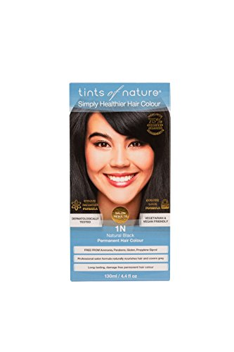 TINTS OF NATURE 1N Natural Black Hair Color, 4.4 FZ (Tints Of Nature Semi Permanent Hair Color)