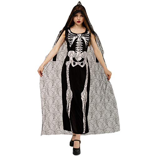 DSplay Halloween Women's Spider Web Skeleton Costumes ()