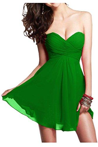 Damen Linie Kurz Abendkleid Grün Ivydressing Chiffon A 0TSZx1q