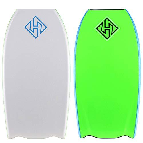 Hubboards Hubb PP HD BT 41.5 Bodyboard - White/Aqua/Lime Green