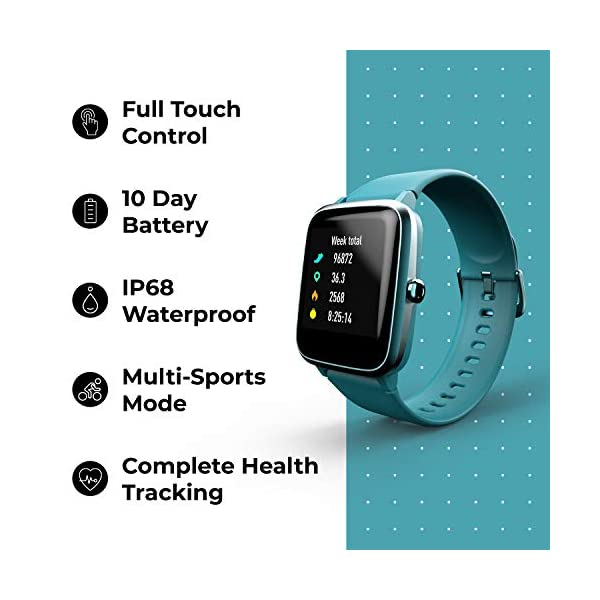 41SkttmBkFL Noise Colorfit Pro 2 Full Touch Control Smart Watch (Teal Green)