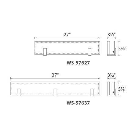 WAC Lighting WS-57627-BN Meridien 27 LED Bath /& Wall Light in Brushed Nickel 2,
