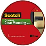 Scotch Clear Mounting Tape, 1-inch x 450-inches, 1-Roll (410-LONG)
