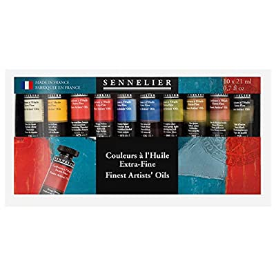 Sennelier Artists Oil Set, Includes Ten 21ml Tubes of Extra-Fine Artist Quality Oil Paint (10-130222-00)