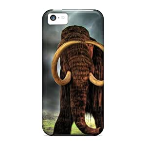 New BixdI5901AeOzZ Mammoth Of Old Skin Case Cover Shatterproof Case For Iphone 5c