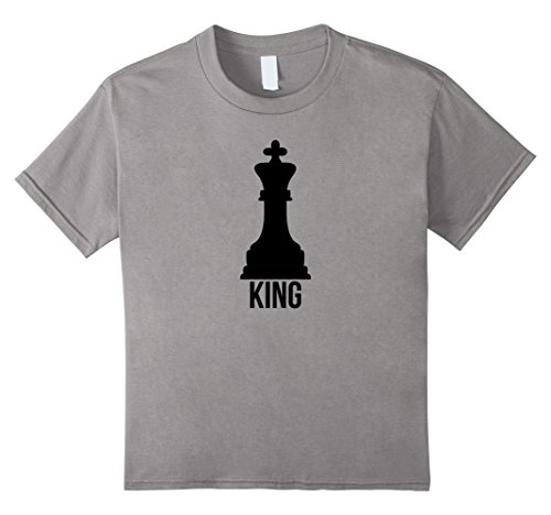 Kids King Pawn Funny Chess Family Couple Group Costume Tee Shirt 8 Slate