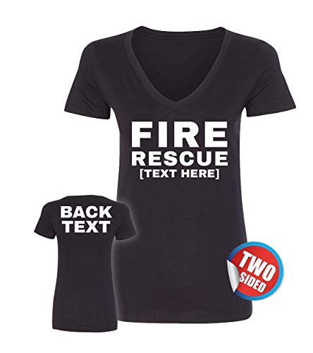 Patriotic Ville Firefighter Shirts for Women - Fire Department Tshirt - EMS Fire Emergency T Shirts ()