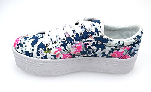 SNEAKER ZOMG CANVAS FLORAL BLUE JEFFREY CAMPBELL