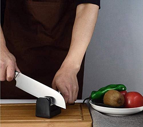 JIAHE115 Präzisionsmesserschärfer Schärfstein HJCA Sharpener Manual Schärfstein Sharping Bar Home Küche Multifunktions-Gadget - Schwarz 20,5 * 5,0 * 6,0 cm