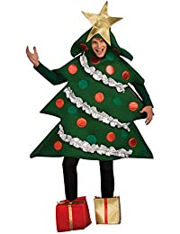 Adult Christmas Tree Costume With Present Shoe Covers