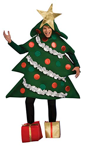 Rubie's Women's Christmas Tree Jumper Costume with Present Boot Tops, As Shown, Standard