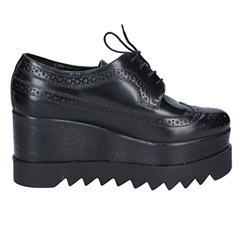 de de RUBINI para Cordones Zapatos Negro Mujer Olga Cuero T1Rqpc