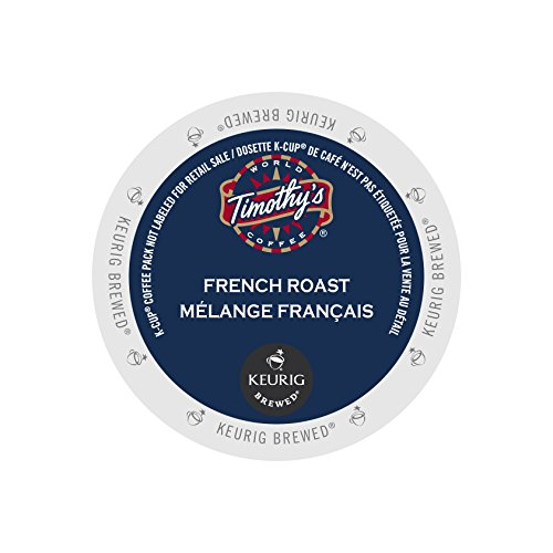 Timothy's World Coffee, French Roast,  K-Cup Portion Pack for Keurig K-Cup Brewers, 24-Count (Pack of 2)