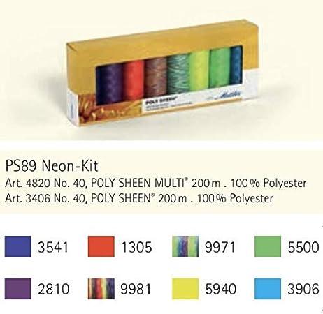SE4-Kit 200m Pro Rolle Mettler SERALON Beige 4er Kit N/ähgarn Set: Universal Garn zum N/ähen Oder Sticken N/ähgarn f/ür N/ähmaschine 100/% Polyester