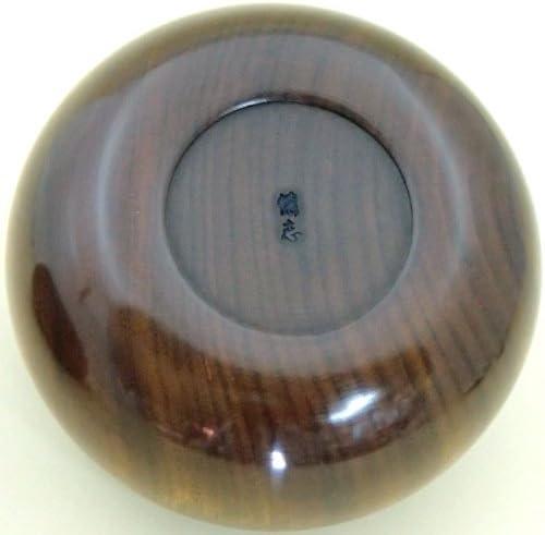 碁石セット ガラス碁石鳳凰青ラベル松(約10mm)と木製極上楠36号碁笥