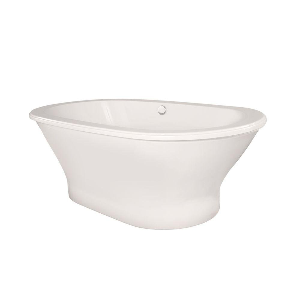 Arlington 5.8 ft. Freestanding Air Bath Tub without Towel Bar in White
