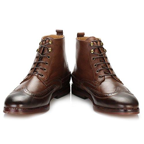 Hudson Hombres Marrón Penley Botas-UK 8