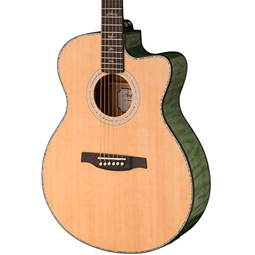PRS Paul Reed Smith SE Angelus A55E Acoustic Electric Guitar with Case, Abaco Green ()