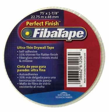 """Fibatape Drywall Joint Tape 1-7/8"""" X 50 ' White Self Adhesive"""
