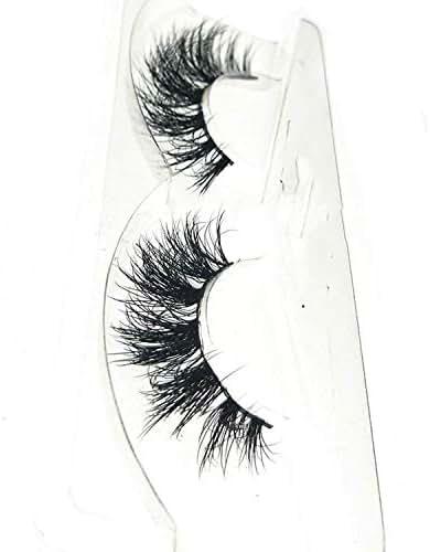 NEW 3D Mink Hair False Eyelashes Wispy Cross Eye Lashes Fluffy Handmade Extension Mink Eyelashes,Y-25